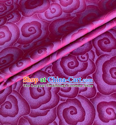Asian Chinese Classical Clouds Pattern Design Rosy Brocade Jacquard Fabric Traditional Cheongsam Silk Material