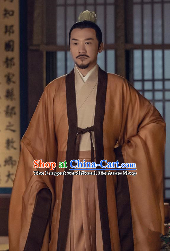 Traditional Chinese Ancient Emperor of Northern Qi Drama Royal Nirvana Xian Jian Costumes for Men