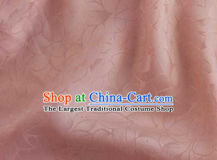 Asian Chinese Classical Lotus Petals Pattern Design Pink Silk Fabric Traditional Cheongsam Brocade Material