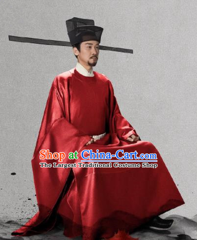 Traditional Chinese Ancient Song Dynasty Emperor Clothing Drama Royal Nirvana Xiao Jian Costumes and Hat for Men