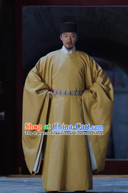 Traditional Chinese Drama Royal Nirvana Song Dynasty Emperor Clothing Ancient Imperator Xiao Jian Costumes and Hat for Men