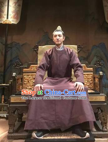 Traditional Chinese Ancient Prince of Qi Clothing Drama Royal Nirvana Song Dynasty Xiao Dingtang Costumes for Men