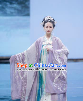 Traditional Chinese Ancient Imperial Consort Embroidered Dress Tang Dynasty Royal Princess Costumes for Women