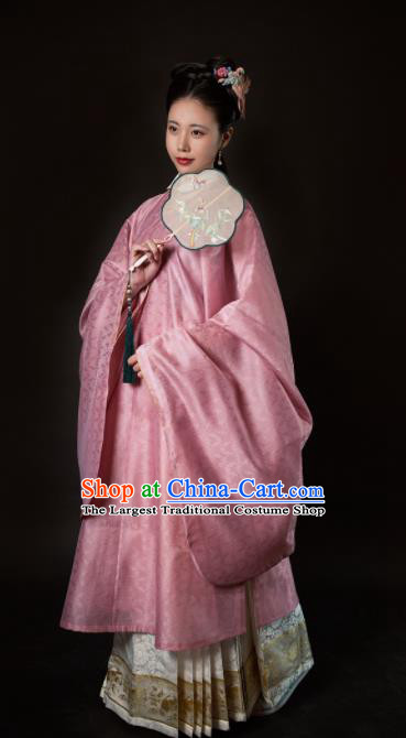 Chinese Ancient Contessa Embroidered Dress Traditional Ming Dynasty Palace Dowager Costumes for Women