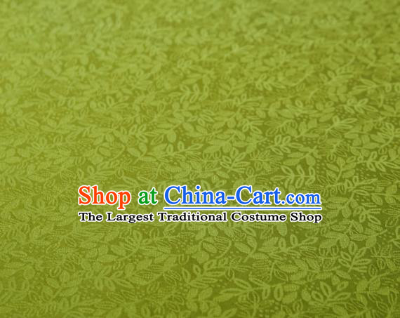 Chinese Classical Pattern Design Olive Green Mulberry Silk Fabric Asian Traditional Cheongsam Silk Material