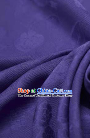 Chinese Classical Twine Peony Pattern Design Purple Mulberry Silk Fabric Asian Traditional Cheongsam Silk Material