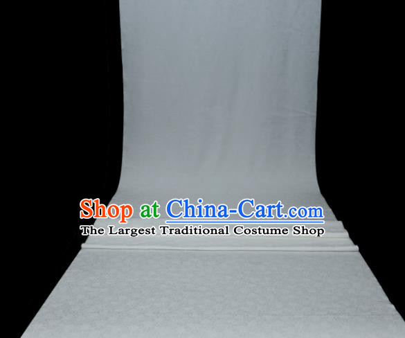 Chinese Classical Plant Pattern Design White Mulberry Silk Fabric Asian Traditional Cheongsam Silk Material