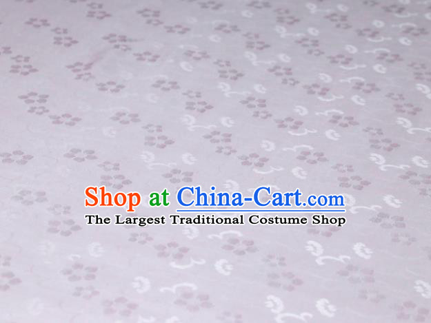 Chinese Classical Plum Pattern Design Pink Mulberry Silk Fabric Asian Traditional Cheongsam Silk Material