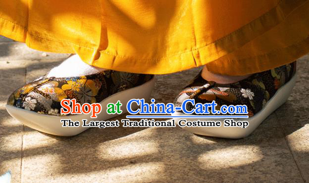 Chinese Traditional Black Blood Stained Shoes Opera Shoes Hanfu Shoes Ancient Princess Shoes for Women