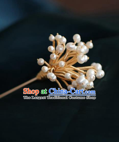Chinese Handmade Ming Dynasty Queen Golden Spring Hairpins Ancient Hanfu Hair Accessories for Women