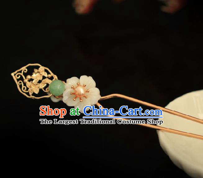 Chinese Handmade Ming Dynasty Princess Plum Blossom Hairpins Ancient Hanfu Hair Accessories for Women