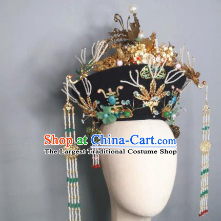 Chinese Handmade Qing Dynasty Queen Hat Phoenix Coronet Ancient Empress Hair Accessories for Women
