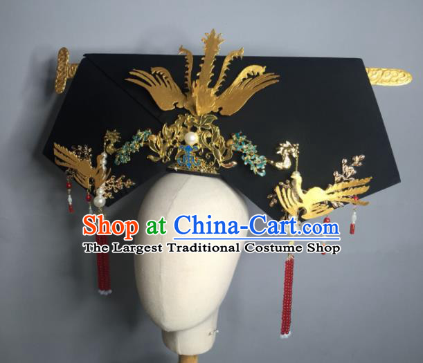 Chinese Handmade Qing Dynasty Manchu Imperial Consort Hairpins Hat Ancient Empress Hair Accessories for Women