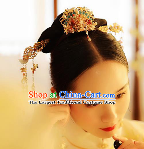 Chinese Traditional Ming Dynasty Queen Hair Comb Hairpins Ancient Princess Hair Accessories for Women