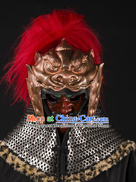 Traditional Chinese Song Dynasty General Helmet Ancient Soldier Hat for Men