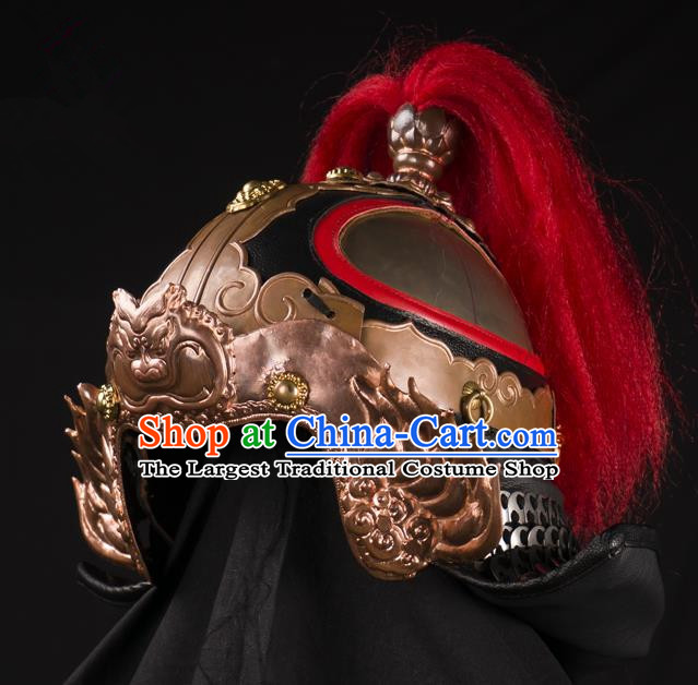 Traditional Chinese Song Dynasty Military Officer Helmet Ancient Soldier General Hat for Men