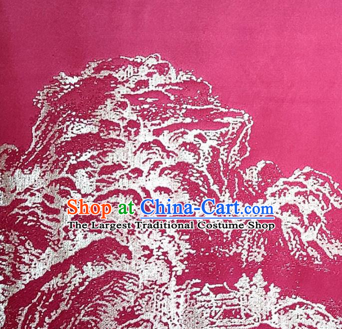 Chinese Traditional Rosy Silk Fabric Mulberry Silk Fabric Hanfu Dress Material