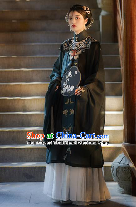 Chinese Ancient Imperial Consort Embroidered Blouse and Skirt Traditional Ming Dynasty Court Lady Costume for Women