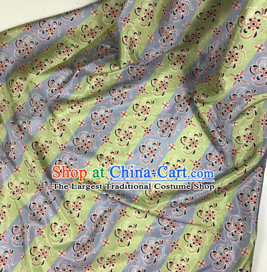 Chinese Traditional Pattern Light Green Brocade Hanfu Fabric Silk Fabric Hanfu Dress Material