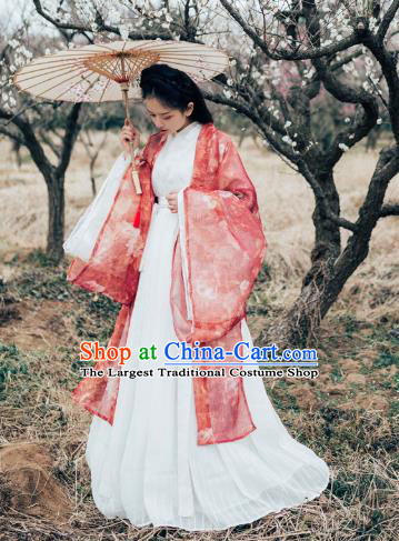 Chinese Ancient Swordswoman Hanfu Embroidered Dress Traditional Jin Dynasty Palace Princess Costumes for Women