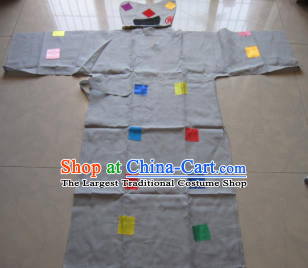 Chinese Traditional Buddha Jih Cassock Monk Beggar Costume