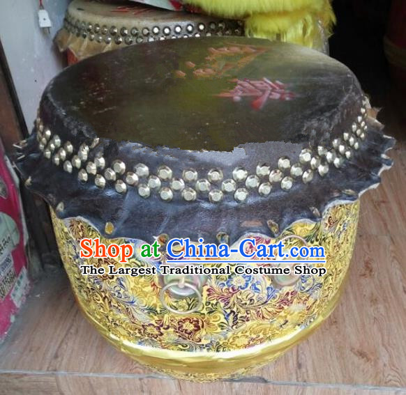 Chinese World Lion Dance Yellow Drum Traditional Lion Dance Musical lnstruments Drum