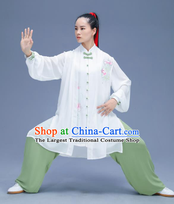 Chinese Traditional Kung Fu Training Embroidered Garment Outfits Martial Arts Stage Show Costumes for Women