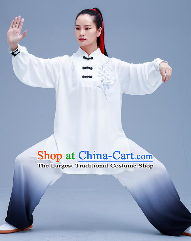 Chinese Traditional Kung Fu White Outfits Martial Arts Competition Costumes for Women