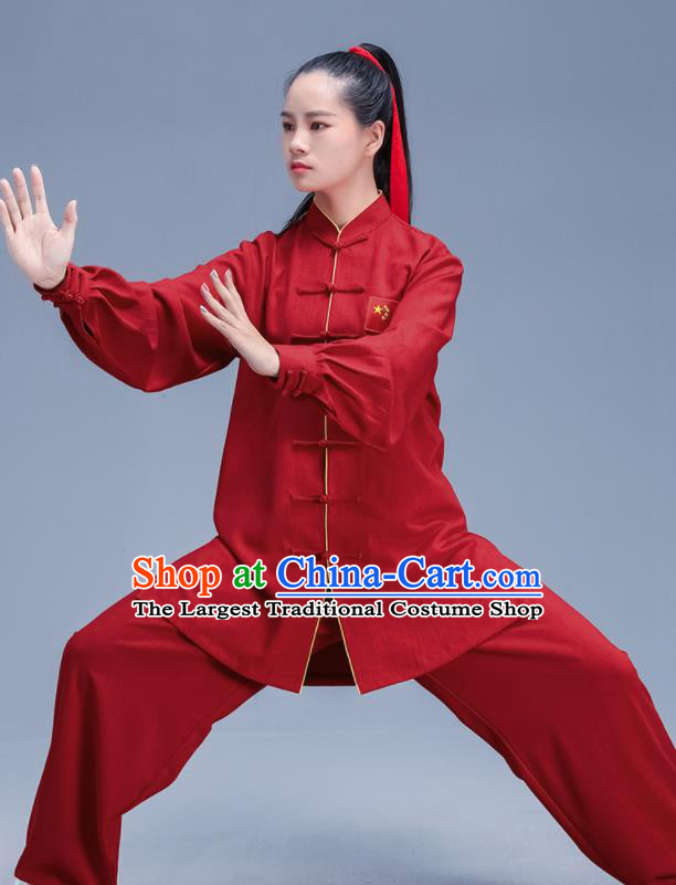 Chinese Traditional Kung Fu Stage Show Outfits Martial Arts Competition Costumes for Women