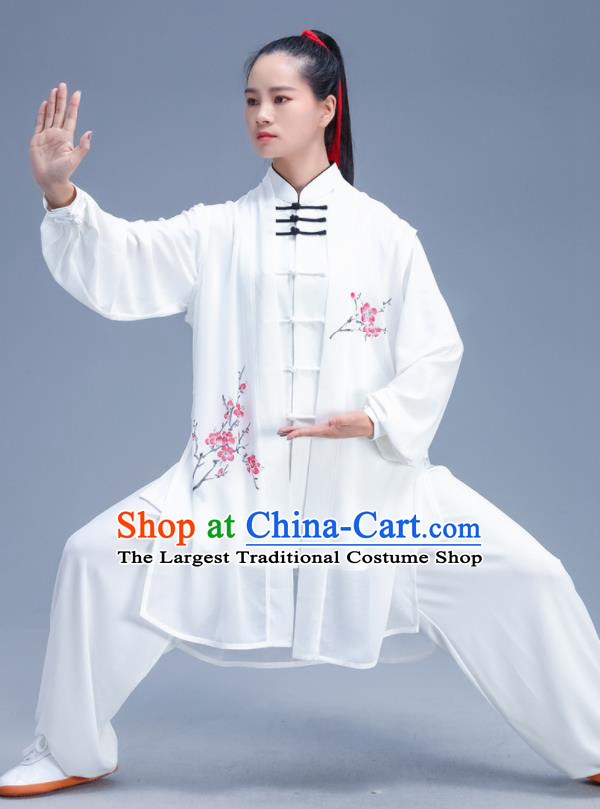Chinese Traditional Kung Fu Competition Printing Plum Blossom Outfits Martial Arts Stage Show Costumes for Women