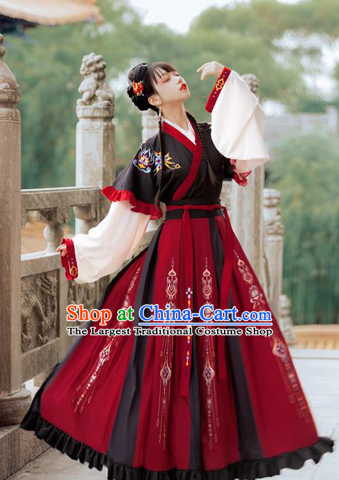 Traditional Chinese Jin Dynasty Royal Infanta Hanfu Dress Ancient Palace Princess Costumes for Women