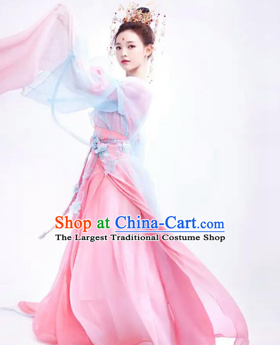 Chinese Traditional Tang Dynasty Royal Princess Dress Ancient Drama Goddess Historical Costumes for Women