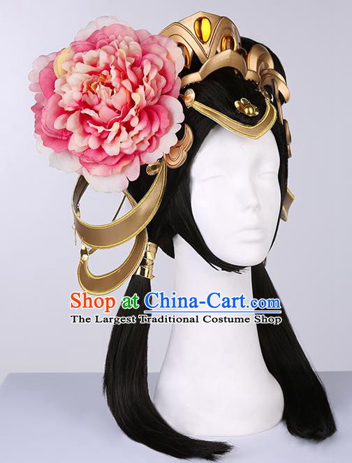 Chinese Traditional Han Dynasty Princess Wigs Ancient Imperial Consort Wig Sheath for Women