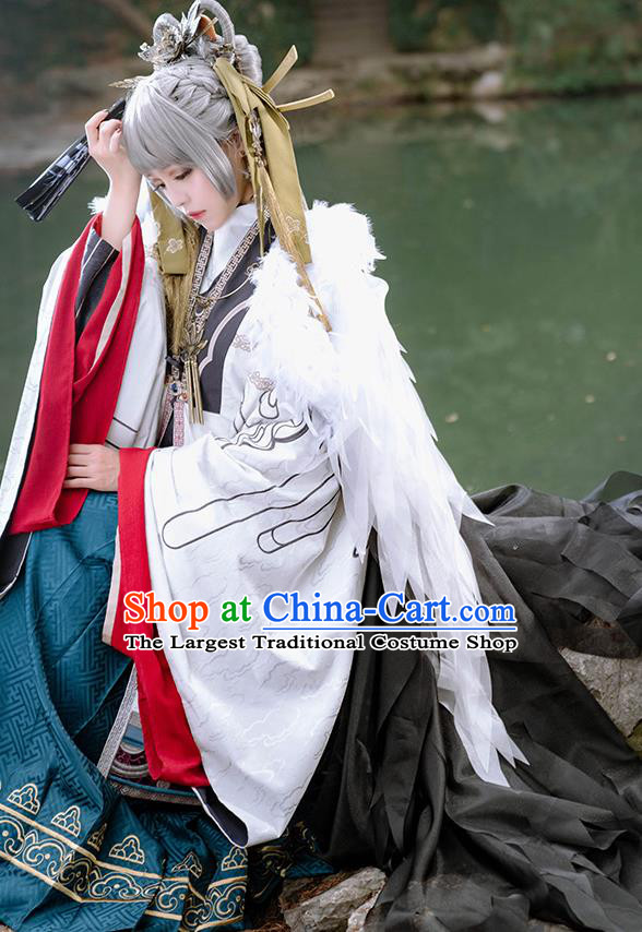 Chinese Cosplay Ming Dynasty Princess Hanfu Dress Traditional Ancient Female Swordsman Costumes for Women
