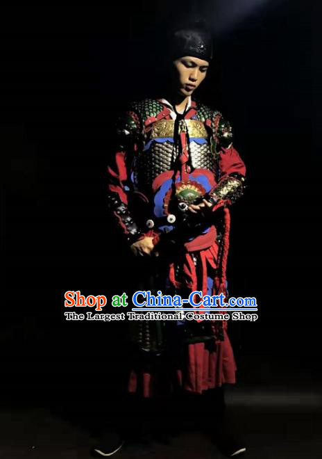 Chinese Traditional Ming Dynasty Imperial Bodyguard Body Armor Ancient Swordsman Costumes for Men