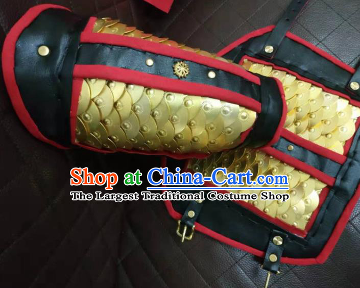 Chinese Traditional Ming Dynasty Wrist Armor Ancient Swordsman Armband for Men