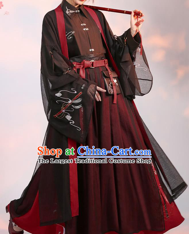 Chinese Traditional Cosplay Knight Brown Clothing Ancient Swordsman Costumes for Men