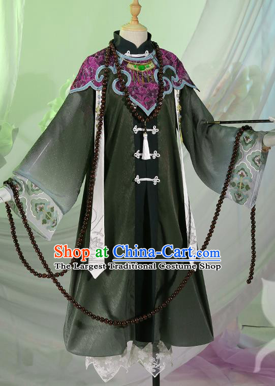 Chinese Traditional Cosplay Queen Black Hanfu Dress Ancient Swordsman Costumes for Women