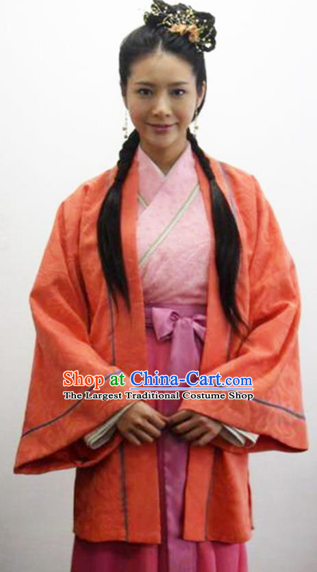 Chinese Traditional Ming Dynasty Civilian Lady Hanfu Dress Ancient Drama Female Swordsman Historical Costumes for Women