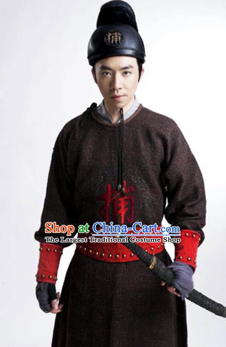 Chinese Traditional Ming Dynasty Constable Clothing Ancient Drama Swordsman Historical Costumes for Men