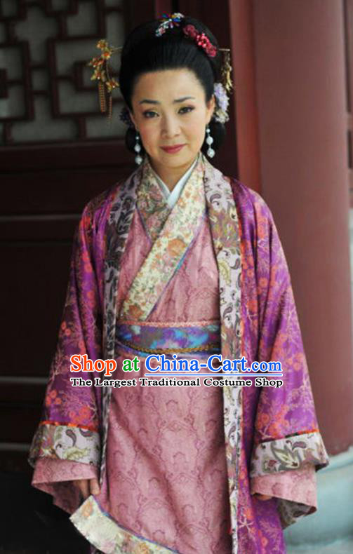 Chinese Traditional Han Dynasty Queen Mother Hanfu Dress Ancient Drama Empress Dowager Historical Costumes for Women