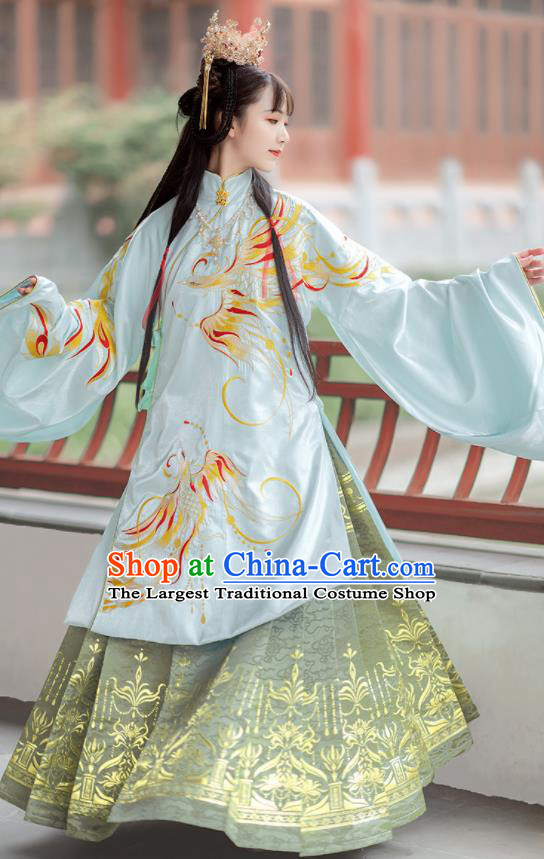 Chinese Traditional Ming Dynasty Royal Infanta Hanfu Dress Ancient Palace Princess Costumes for Women
