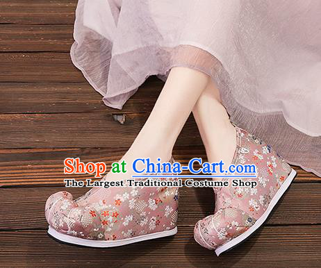 Asian Chinese Traditional Deep Pink Embroidered Shoes Princess Shoes Opera Shoes Hanfu Shoes for Women