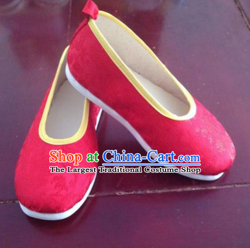 Asian Chinese Traditional Wedding Red Satin Shoes Princess Shoes Opera Shoes Hanfu Shoes for Women