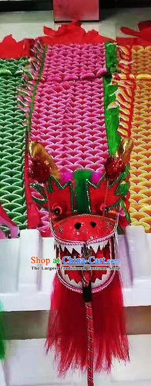 Chinese Traditional Dragon Dance Red Dragon Head Lantern Festival Folk Dance Prop