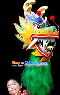 Chinese Traditional Dragon Dance Green Head Lantern Festival Folk Dance Prop Complete Set