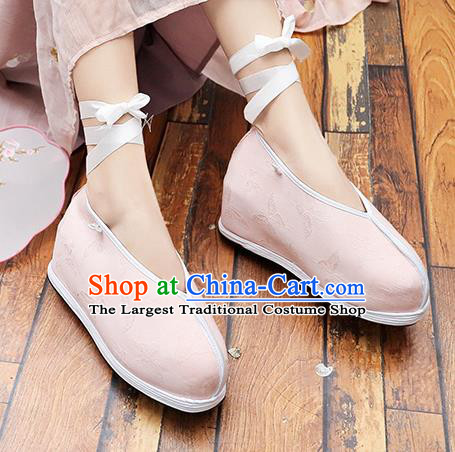 Asian Chinese Traditional Princess Shoes Pink Shoes Opera Shoes Hanfu Shoes for Women