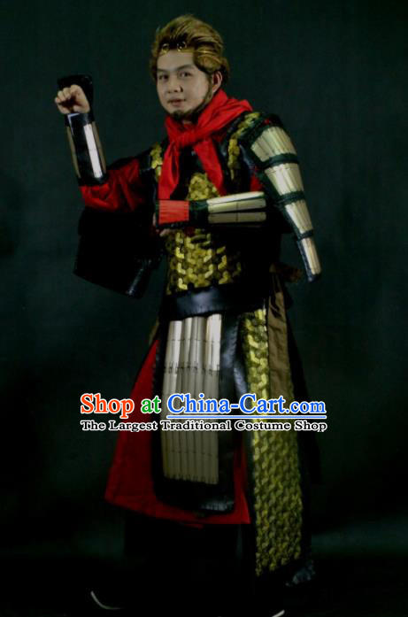 Chinese Traditional Cosplay Monkey King Body Armor Ancient Swordsman Costumes for Men