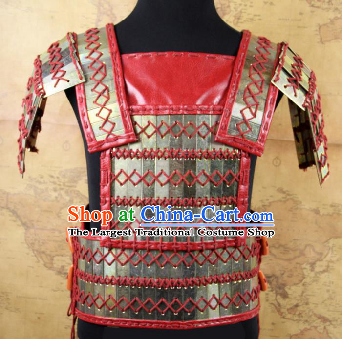 Chinese Traditional Qin Dynasty Soldier Vest Armor Ancient Swordsman Breastplate for Men