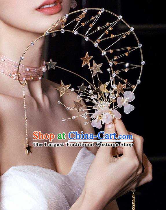 Chinese Traditional Palace Fans Handmade Classical Hanfu Wedding Fan for Women